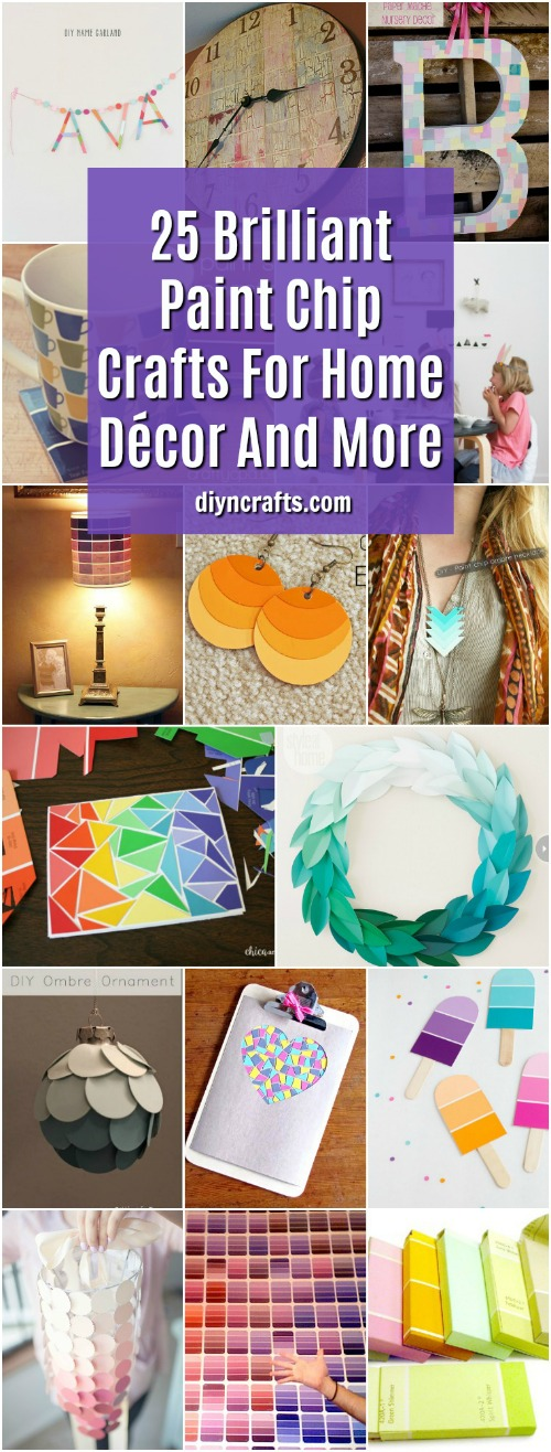 25 Brilliant Paint Chip Crafts For Home Decor And More