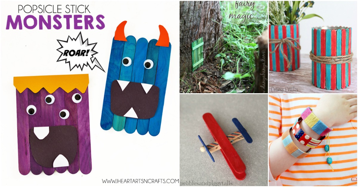 50 Fun Popsicle Crafts You Should Make With Your Kids This