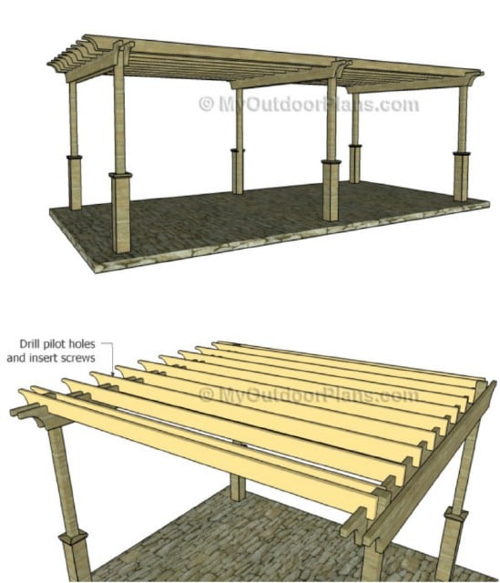 Easy 12 By 24 Foot Pergola