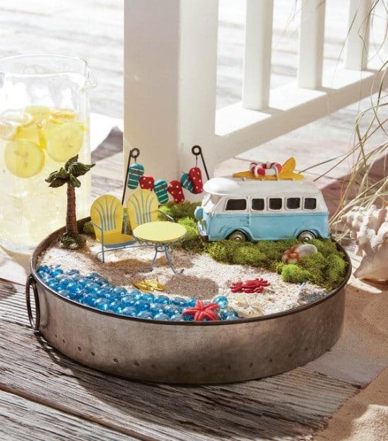 Adorable DIY Beach Fairy Garden