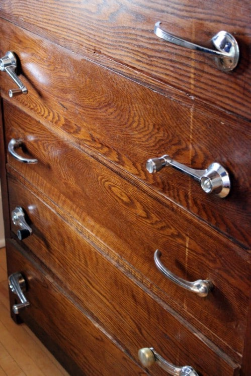 Upcycled Door And Window Handle Drawer Pulls