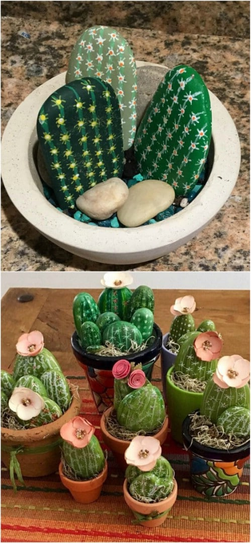 Bonus grab or diy these painted rock cactuses to decorate your garden.