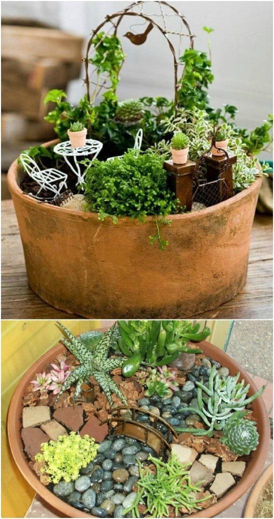Romantic Fairy Garden In A Pot