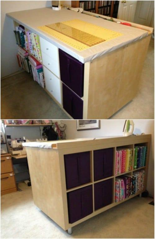 IKEA Hack – Expedit Crafting Desk