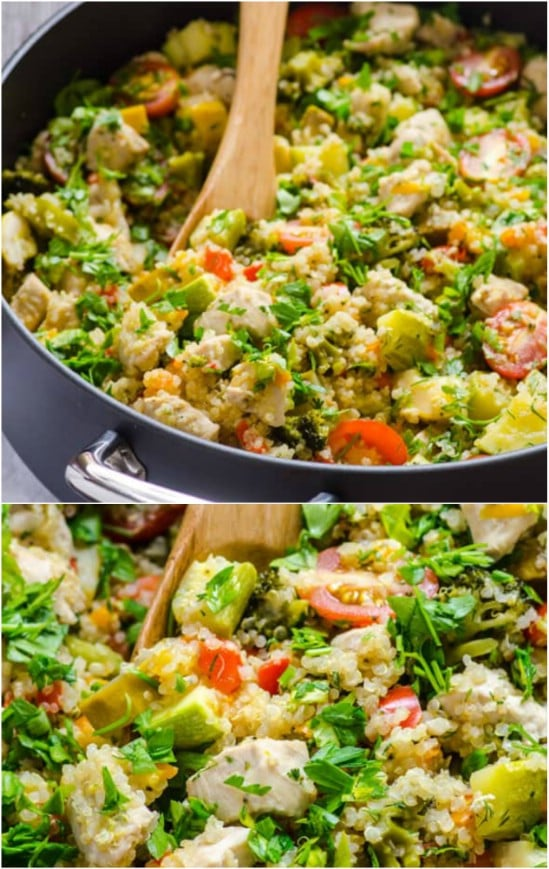 Quinoa And Chicken With Garden Vegetables
