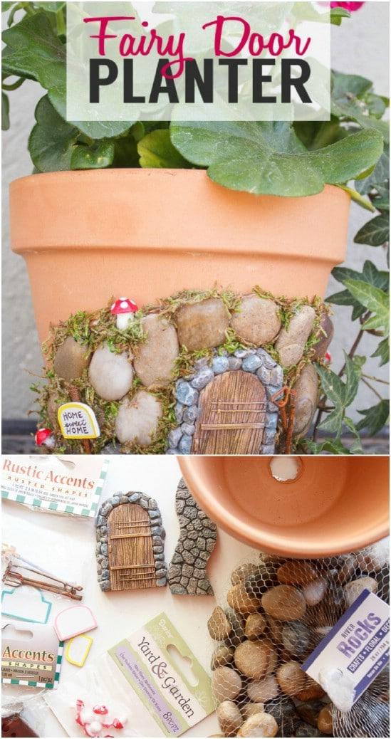DIY Fairy Door Planter