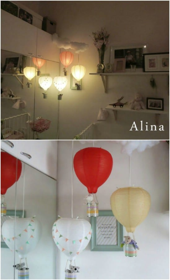 Cute DIY Hot Air Balloon Nightlight