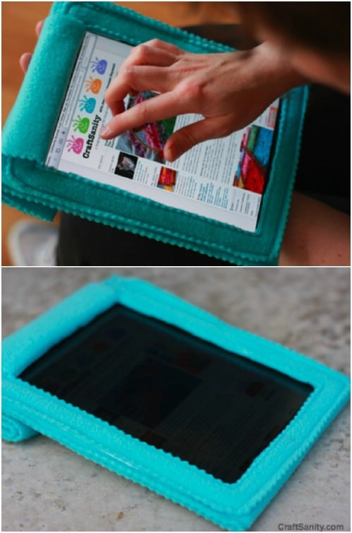 DIY Fleece iPad Cozy