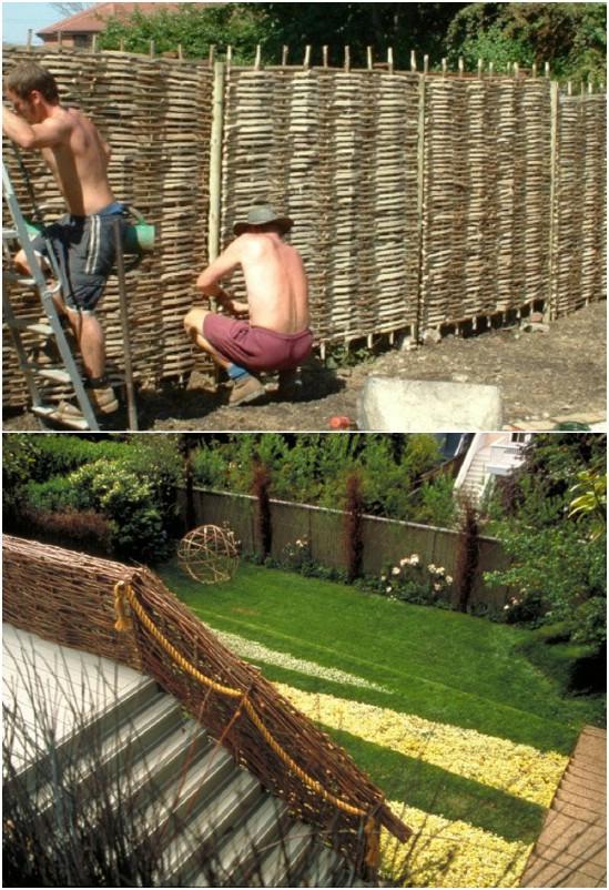 Simple DIY Modern Wattle Fence
