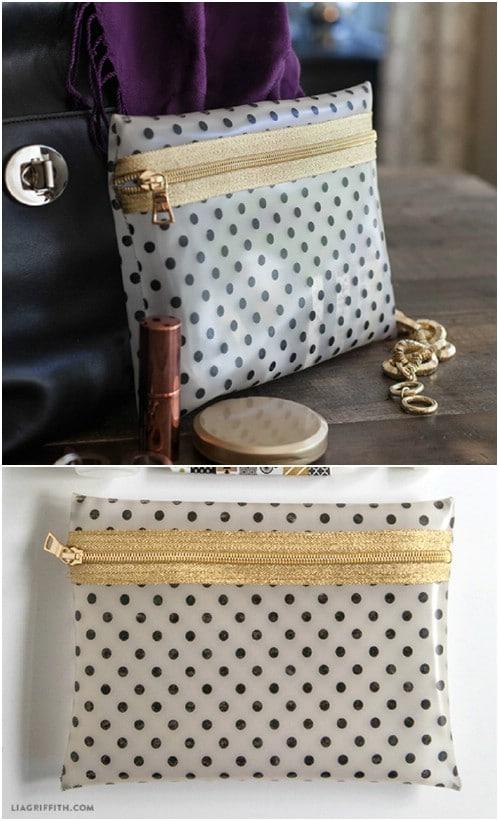 DIY Zippered Makeup Bag