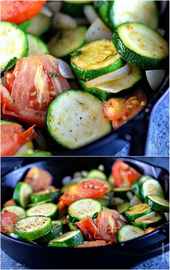 Quick And Easy Skillet Zucchini