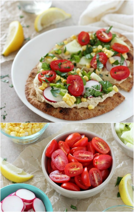 Fresh Garden Vegetable Flatbread