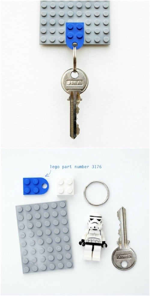 Easy DIY Lego Key Holder