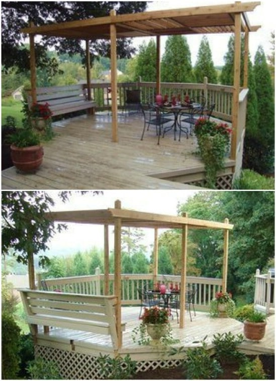 Gorgeous DIY Louvered Pergola