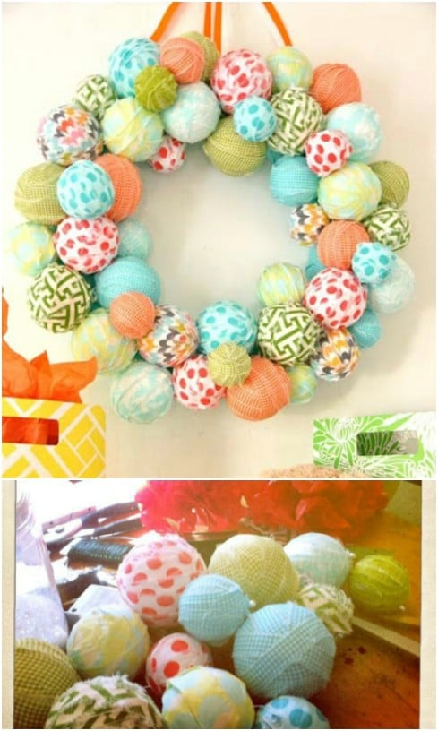 DIY Styrofoam Ball Wreath