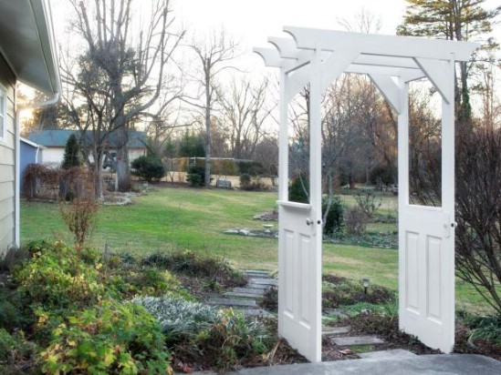 Repurposed Door Pergola