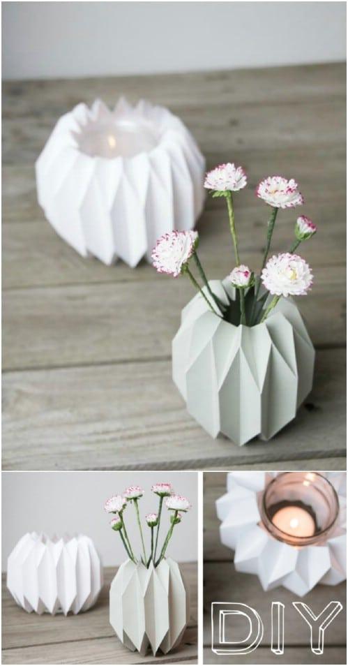DIY Origami Designed Vase