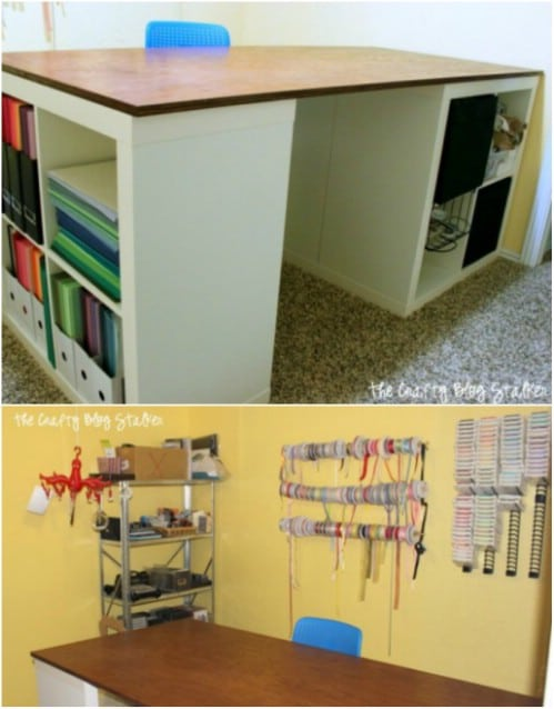 17 Easy To Build Diy Craft Desks You Just Can T Live Without Diy Crafts