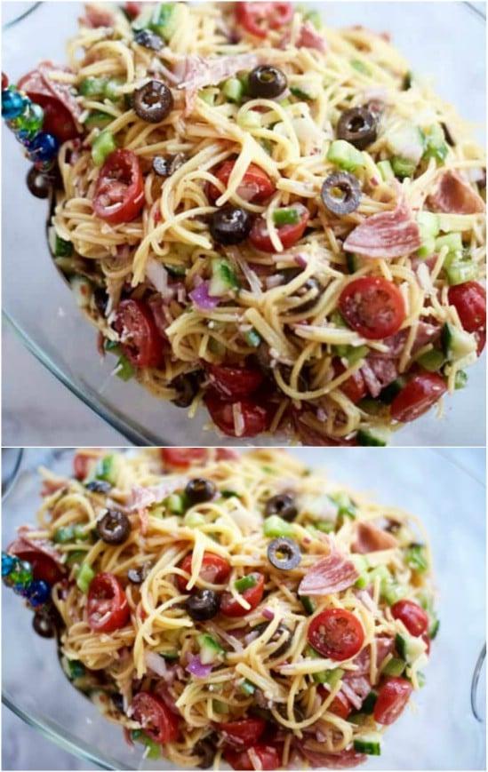 Summer Italian Spaghetti Salad