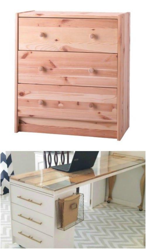 IKEA Hack – Dresser To Craft Desk