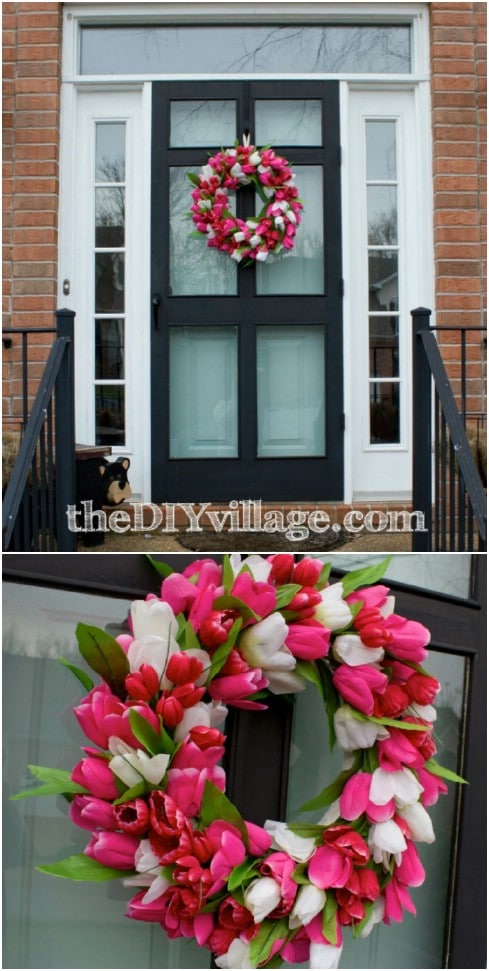 Gorgeous DIY Tulip Wreath