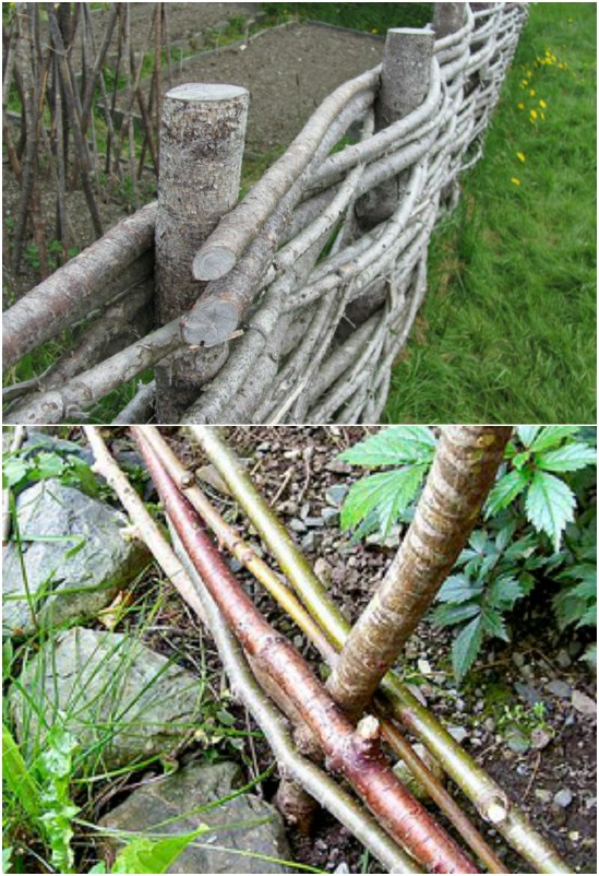 DIY Woven Wattle Garden Fencing