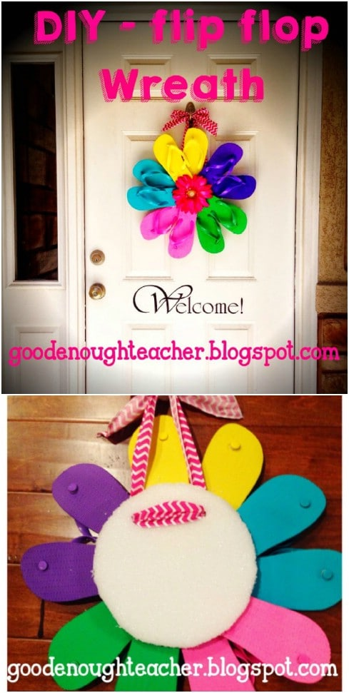 DIY Summer Flip Flop Wreath