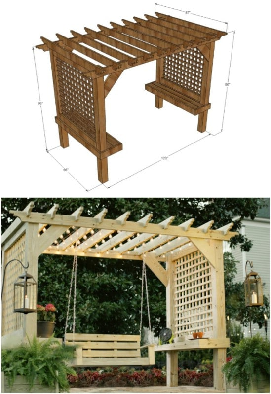 Easy DIY Pergola Swing