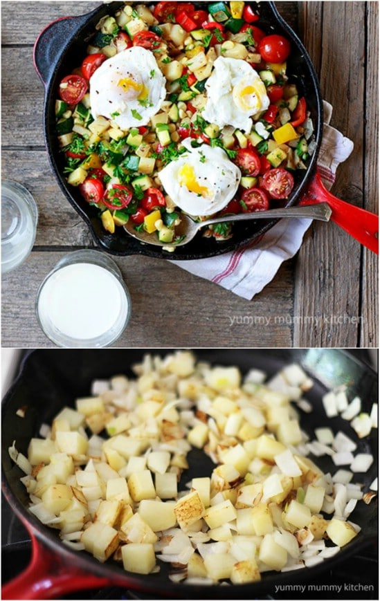 Fresh Garden Vegetable Breakfast Hash