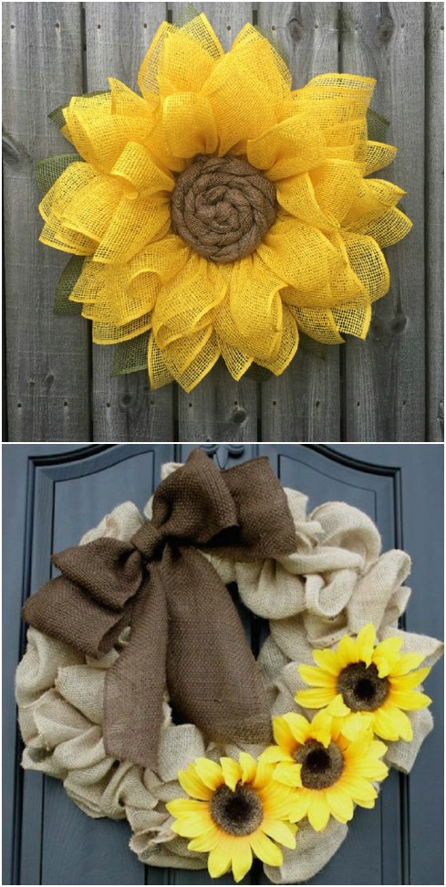 DIY Ruffled Burlap Wreath