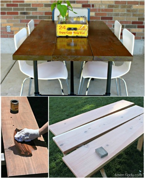 DIY Plumbing Pipe Picnic Table
