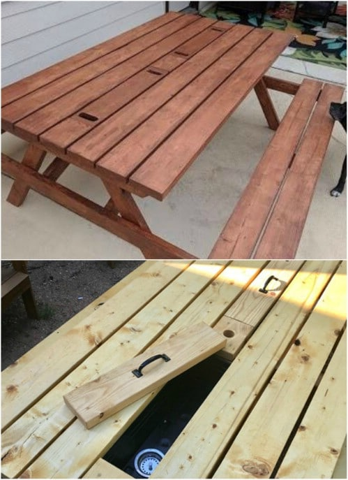 Easy Hidden Trough Picnic Table