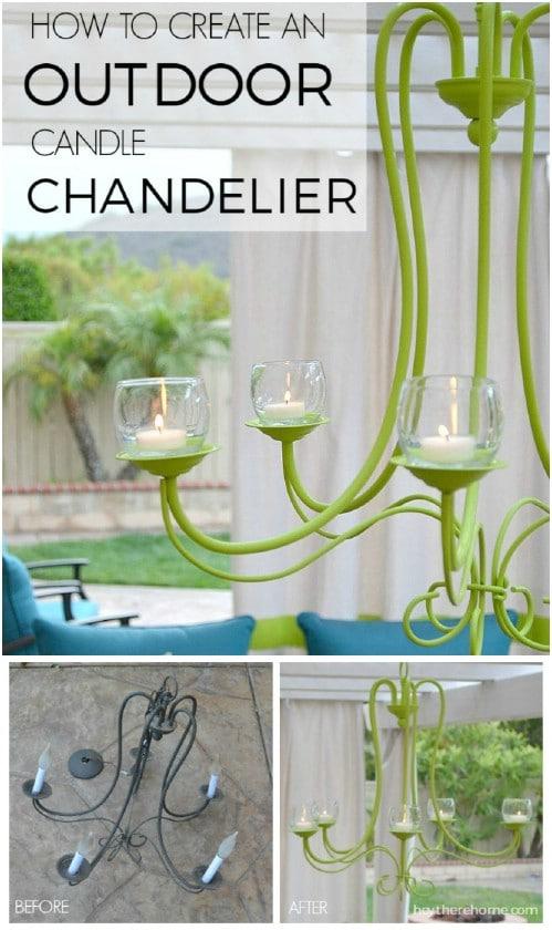 Easy DIY Outdoor Chandelier