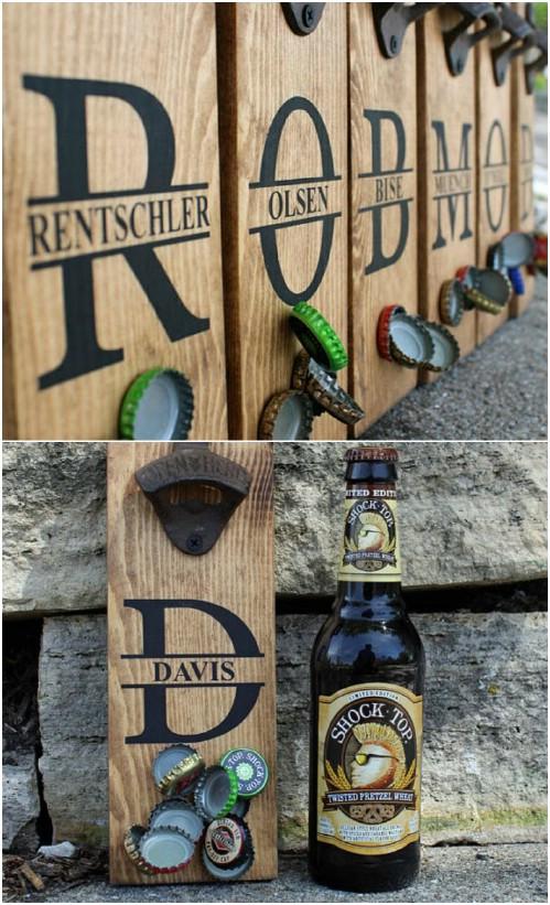 Magnetic Wooden Bottle Openers