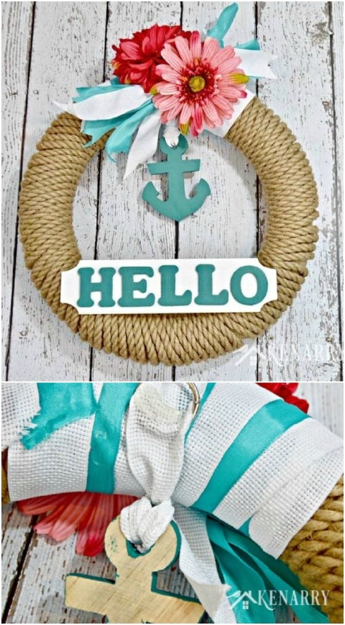 Nautical Sisal Rope Wreath