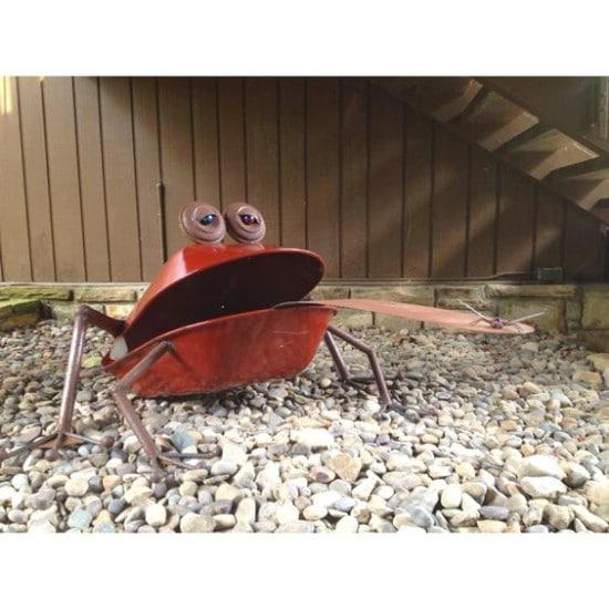 DIY Repurposed Wheelbarrow Yard Art
