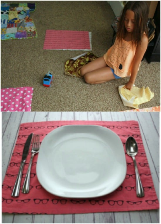 Easy 15 Minute Reversible Summer Placemats
