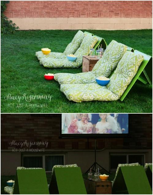 DIY Outdoor Movie Seats
