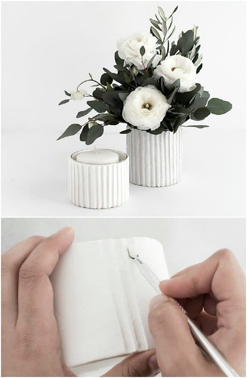 DIY Textured Vases