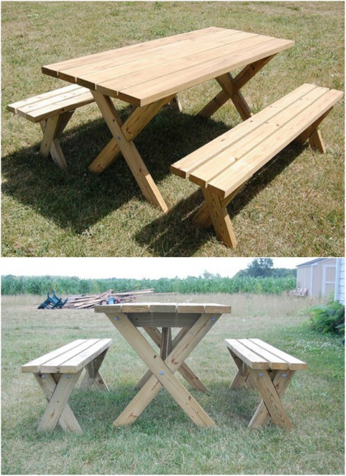 Remarkable 18 Rustic Diy Picnic Tables For An Entertaining Summer Free Forskolin Free Trial Chair Design Images Forskolin Free Trialorg