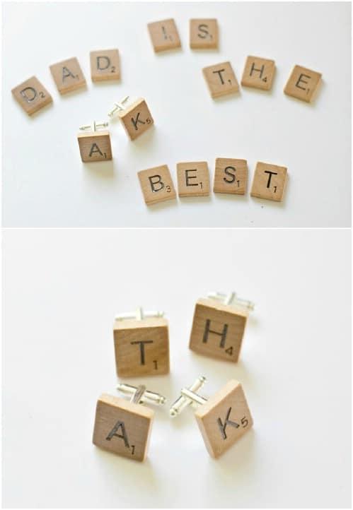 Scrabble Monogrammed Cufflinks
