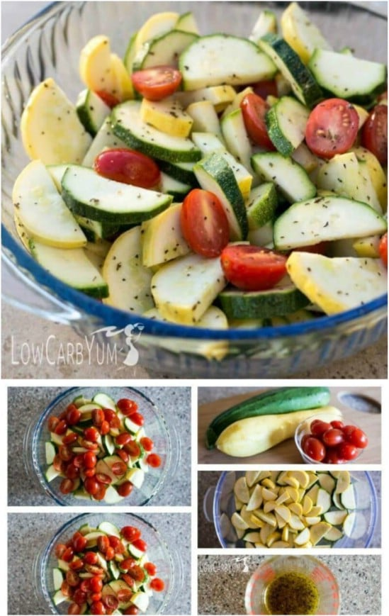 Summer Zucchini, Squash And Tomato Salad