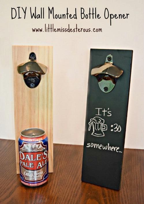 DIY Chalkboard Deck Bottle Opener