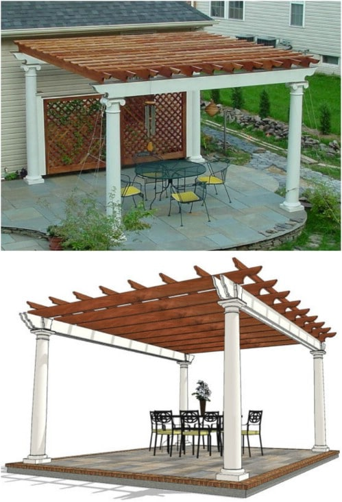 Patio Pergola Design (Plans Only)