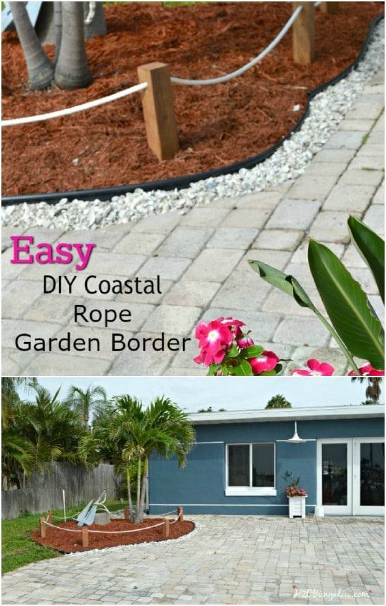 DIY Coastal Rope Garden Fence