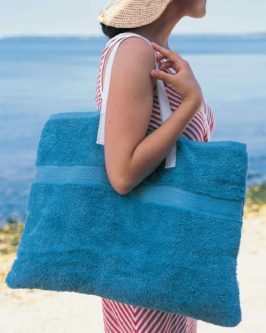Repurposed Towel Beach Mat And Tote