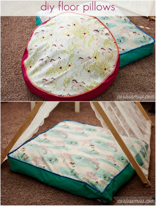 22 Easy Diy Giant Floor Pillows And