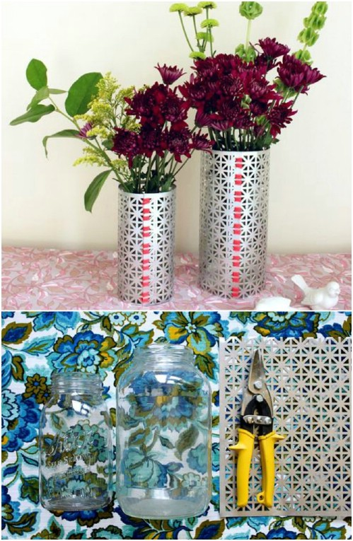 DIY Contemporary Metal Vases
