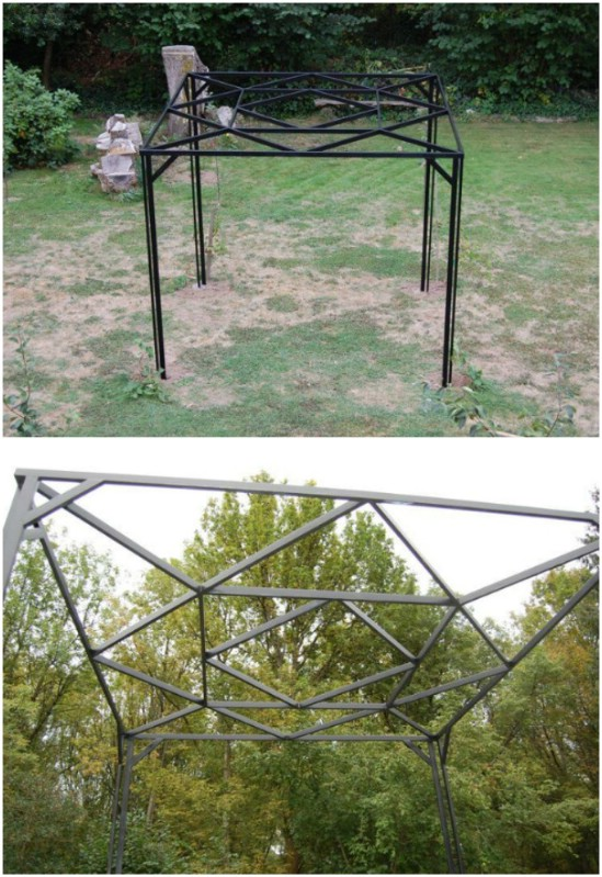 DIY Steel Garden Pergola