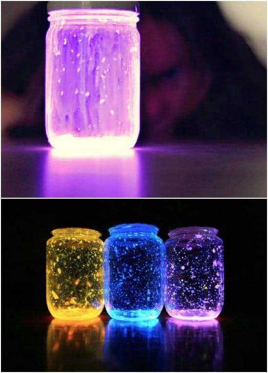 Simple DIY Glow Jar Nightlights